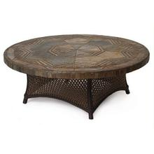 """42"""" Round Conversation Table Stone Top"""