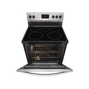 Treviño Appliance - Frigidaire Rear Control Electric Range in Stainless Steel