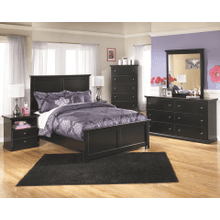 Maribel- Black- 8 pc./- Dresser, Mirror, Chest, Nightstand & Full Panel Bed