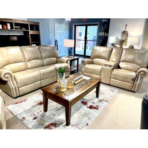 Bassett Furniture - Leather Power Reclining Prescott Sofa & Loveseat