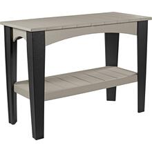 Island Buffet Table Dove Gray and Black