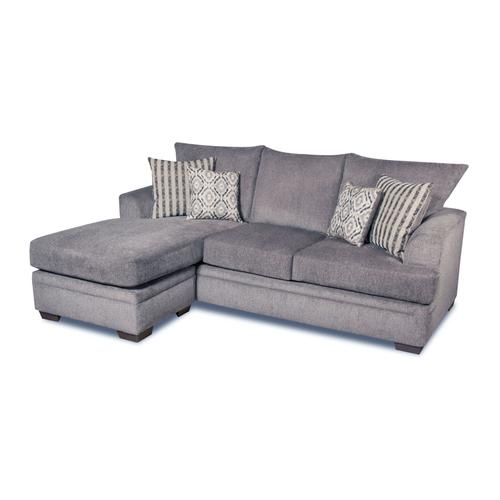 Perth Pewter Chaise Sofa