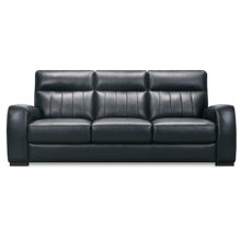 See Details - Leather Sofa in Dark Brown Leather Color