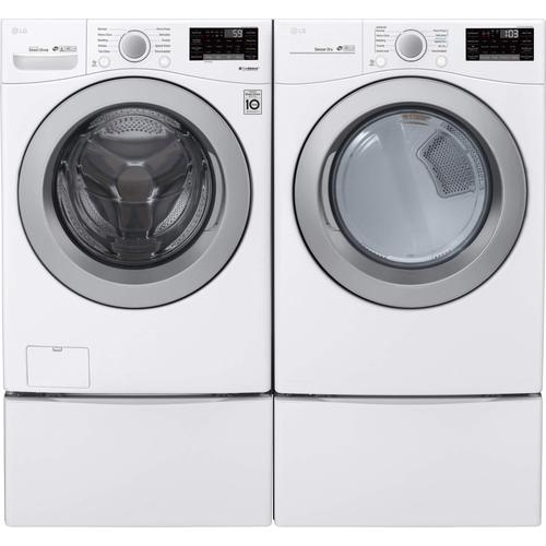 LG 3500 Smart 4.5 cu. ft. Washer and 7.4 cu. ft. Dryer Package