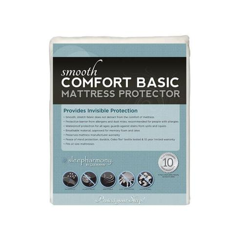 Comfort Plush Microfiber Breathable Waterproof Mattress Protector