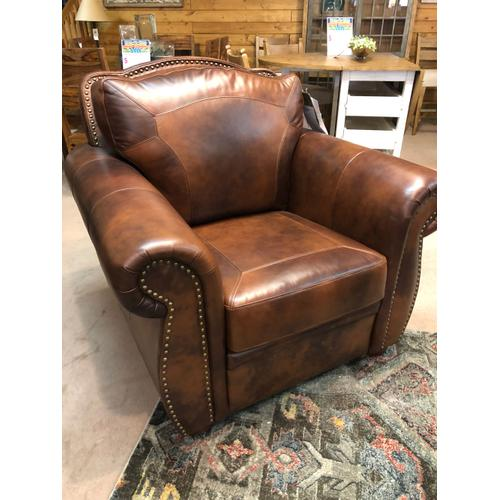 Leather Nailhead Chair