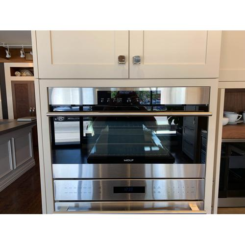 "**50% OFF DISPLAY** Wolf 30"" Convection Steam Oven E Series Transitional"