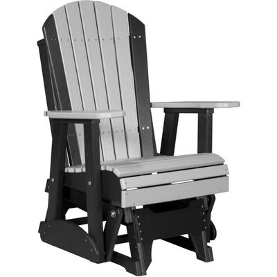 Adirondack Glider 2' Dove Gray and Black