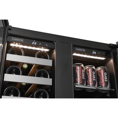 Vinoa Collection - Built-In/Freestanding Beverage Center - 21 Bottles   66 Cans (or 42 Bottles) - Dual Zone