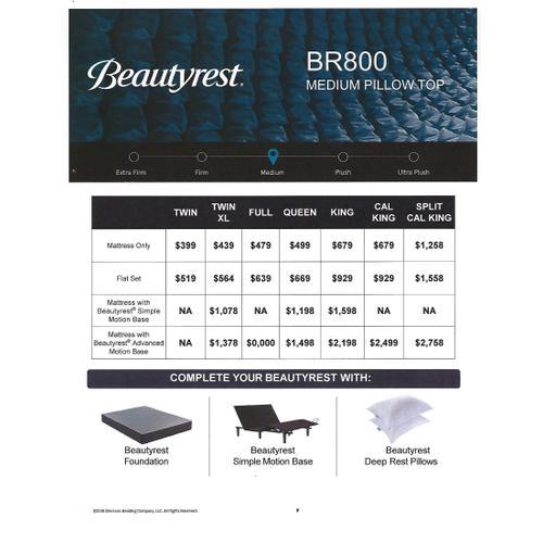 Beautyrest - BR800 - Plush - Euro Top - Queen
