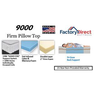 Factory Direct Mattress - 9000 - Firm - Pillow Top