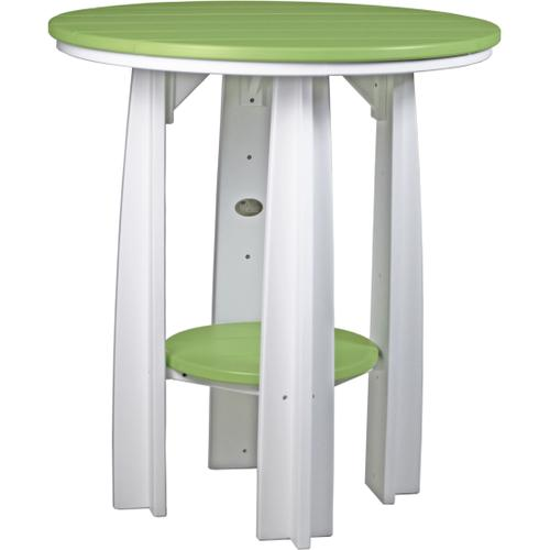 Balcony Table Lime Green and White