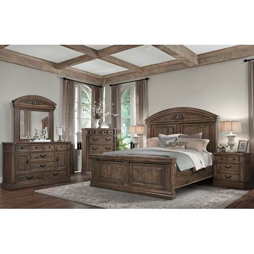 Jorman - Barcelona King Bed, Dresser, Mirror, Chest and Nightstand (QUEEN AVAILABLE)