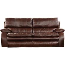 Pillow-top Leather Match Power Reclining Sofa with Power Headrest and Lumbar