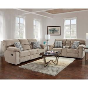 Affordable Furniture Manufacturing - Reclining Loveseat with Console in Chevron Seal