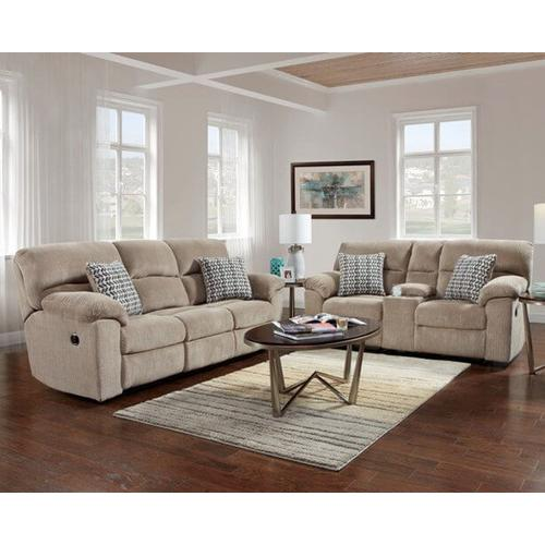Product Image - Reclining Loveseat with Console in Chevron Seal