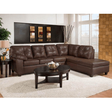 Thomas Mahogany 2-Piece Sectional W/Chaise