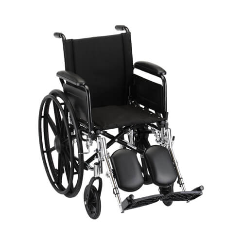 """Gallery - 16"""" Lightweight Wheelchair w/ Full Arms & Elevating Leg Rests"""