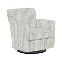 CAROLY Swivel Barrel Chair in Surf Fabric