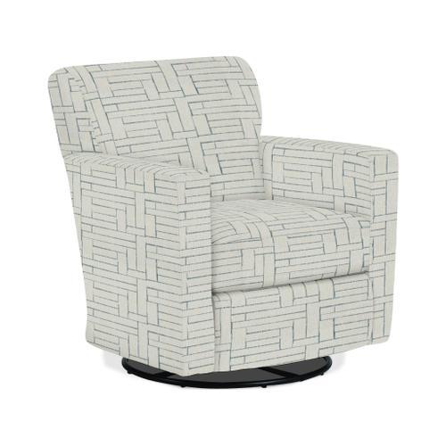 CAROLY Swivel Barrel Chair in Surf Fabric