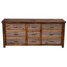 See Details - Natural Barn Wood 9 Drawer Dresser