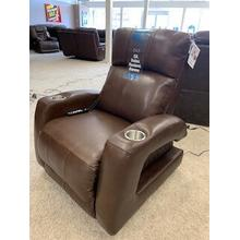 Southern Motion SoCozi Zero Gravity Recliner with Power Headrest . Power Heat & Message . 35W x 42D x 42H in . Fresca Hazelnut Leather/Vinyl . 905-21