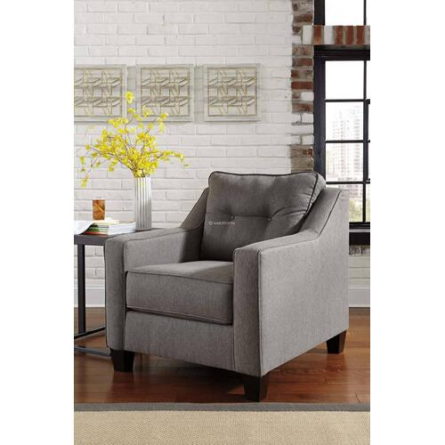 Ashley 539 Brindon Charcoal Sofa and Love