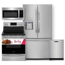 See Details - FRIGIDAIRE 26.8 cu. ft. French Door Refrigerator &  30'' Electric Range with Air Fry- 4 Pc Package
