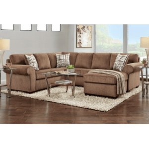 Affordable Furniture Manufacturing - SILVERTON COFFEE 3 PC SECTIONAL     (AFF-SILCOF,305*)