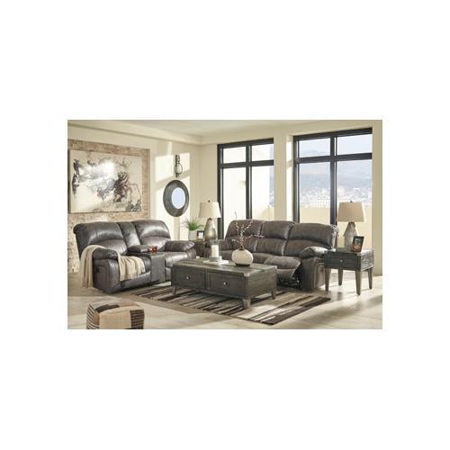 Dunwell- Steel Power Reclining Sofa and Loveseat w/ Adjustable Headrest