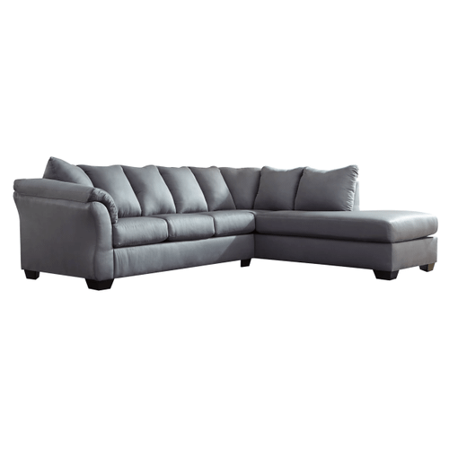 Darcy - Steel 2-Piece Sectional with Right Facing Chaise