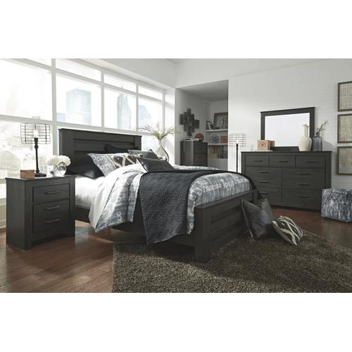 Brinxton- Black- 7 Pc.- Dresser, Mirror, Chest, Nightstand & Queen Panel Bed