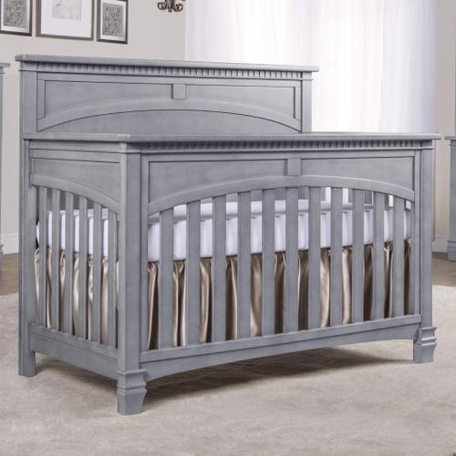 Evolur - Evolur Santa Fe 5 in 1 Convertible Crib- Storm Grey