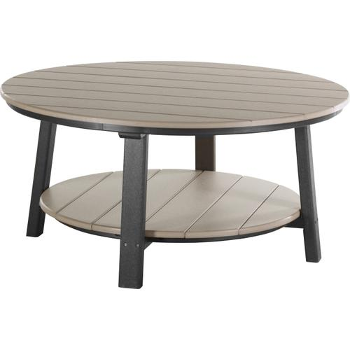 Deluxe Conversation Table Weatherwood and Black