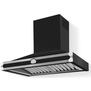 Lacornue Cornufe - Matte Black Albertine 90 Hood with Polished Chrome Accents
