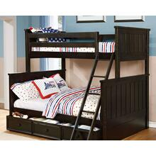 Belfort Twin over Full Bunk Bed with Summerlin Trundle - Graphite Grey