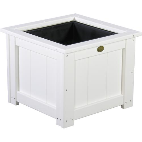 "Square Planter 24"" White"