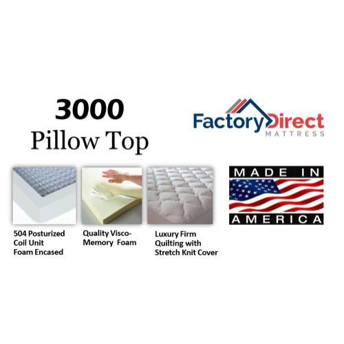 Factory Direct Mattress - 3000 - Pillow Top