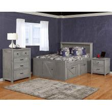 Urban Ranch Bookcase Storage Bed Gray