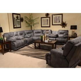 """Voyager """"Lay Flat"""" Reclining 3 Pc. Sectional Slate"""