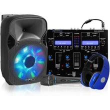 "Rechargeable Dual 12"" LED DJ Loudspeaker Packer"