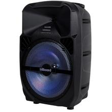 "Billboard 12"" Rechargeable Bluetooth Party Speaker w/ RGB Lighting, AUX, TF, USB, FM Radio Playback, Wheel and Handle Combo for Easy Transport"
