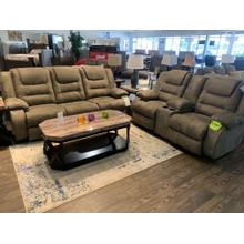 See Details - Ashley McCade Cobblestone Reclining Sofa and Loveseat