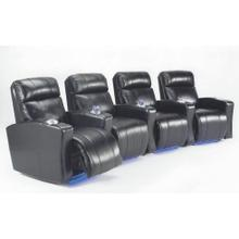 View Product - Curved Vuelta theatre seating with reclining power, lights and cup holders.