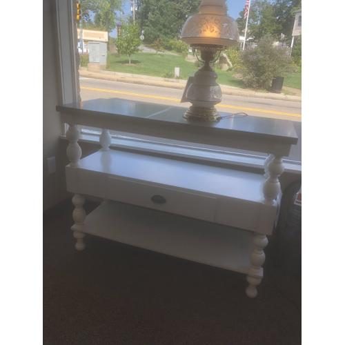 Gallery - White Console with Metallic Top Model# A4000013