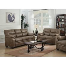 View Product - Coaster Sofa and Loveseat Set, Meagan Everyday Collection, Brown Finish