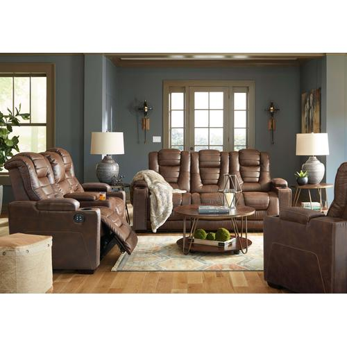 Owner's Box Drop Table Power Reclining Sofa
