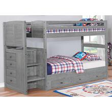 Twin Twin Stair Bunk Grey Finish