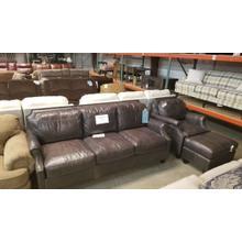 Leather Sofa Char Ottoman
