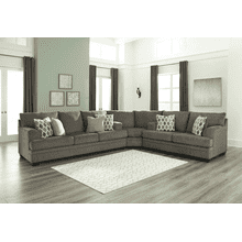 See Details - Dorsten - Slate - Queen Sofa Sleeper, Wedge, and Loveseat Sectional